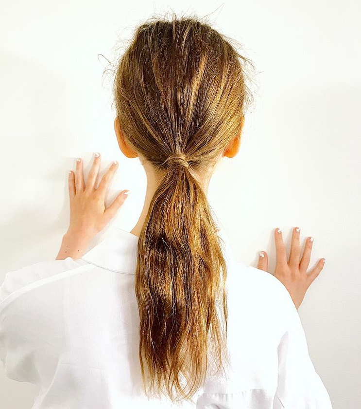 PHOTO: JUSTINE MARJAN; HAIR BY JUSTINE MARJAN FOR TRESEMMÉ  The Fuzzy Ponytails at Tanya Taylor