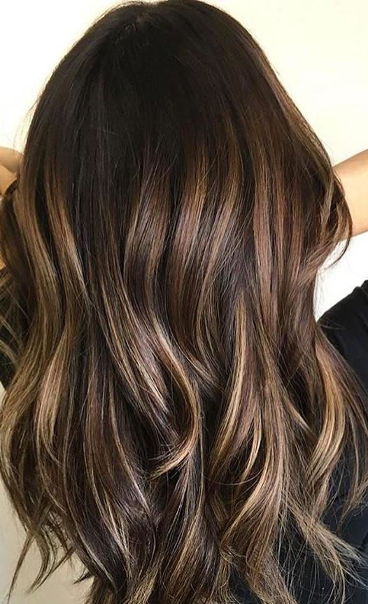 www.hairbabestudio.com  Brunette Warm Caramel Balayage  Best Hairstylist Asheville, NC