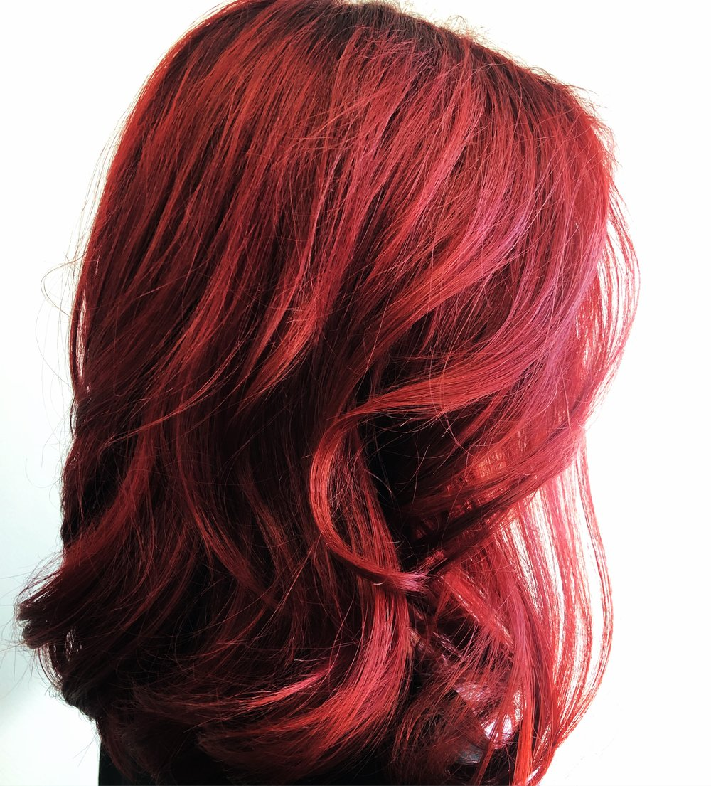 Red Hair Color.  Hair Babe Studio. Asheville, NC Best Hair Salon