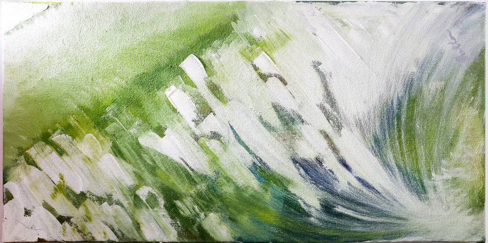 "2010 ""Splish, Splash"" -Jan Van Lingen 2' x 1' - Oil on Canvas $2500"