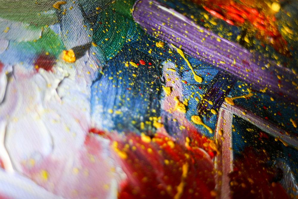 "2003 ""Bi-Polar"" - Zattii 20"" x 16"" - Oil on Canvas - Reserved"