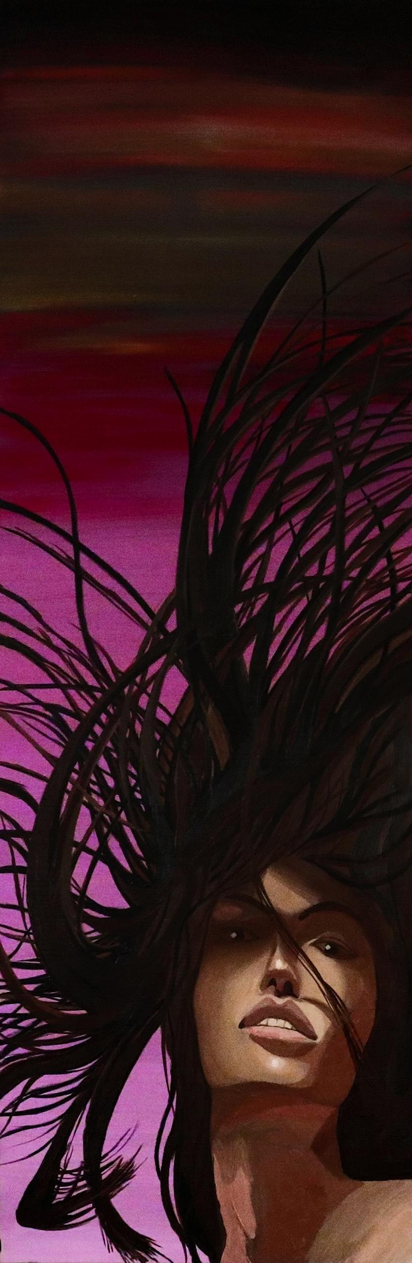 """2008 """"Stormy"""" - Zattii 2' x 6'- Oil on Canvas $8000"""