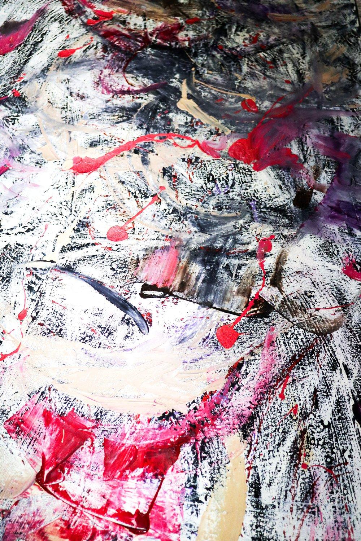 """2007 """"Shiloh"""" - Zattii 2' x 5'- Oil on Canvas $4500"""
