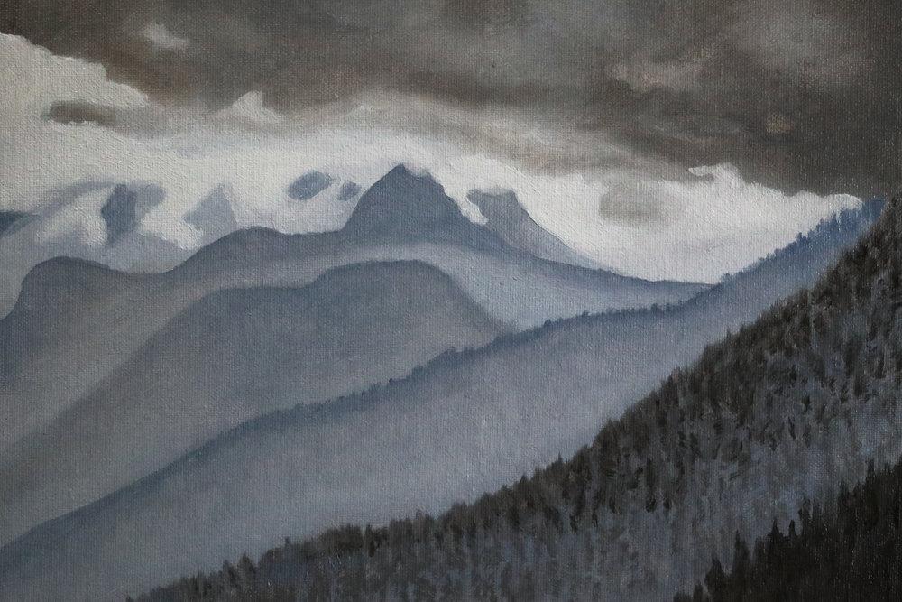 "2018 ""Whistler Gale"" - Jan Van Lingen 9"" x 12"" - Oil on Canvas $2000"