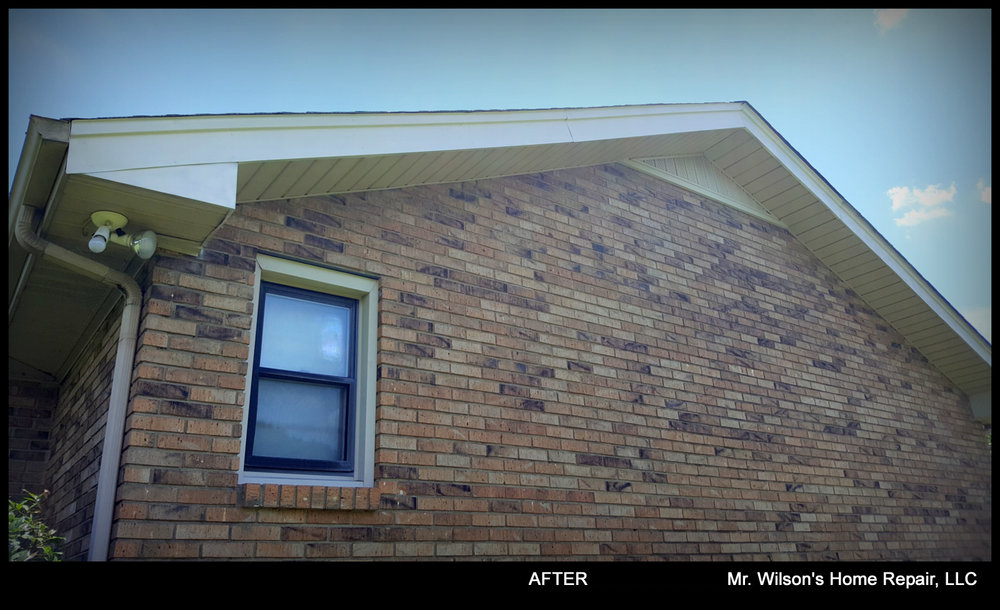 Soffit, fascia, exterior wood paneling and more - moreWe can repair or replace soffits, fascia and any exterior wood paneling or trim, including the painting or staining before or post installation.