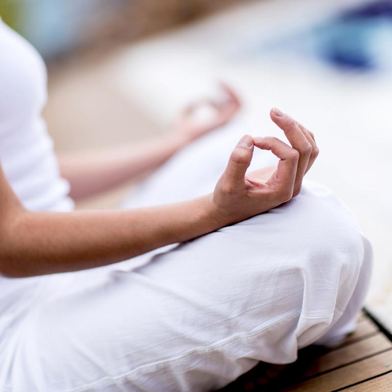 yoga and meditation - Wake up with yoga and pranayama every morning and yoga nidra meditation each evening.