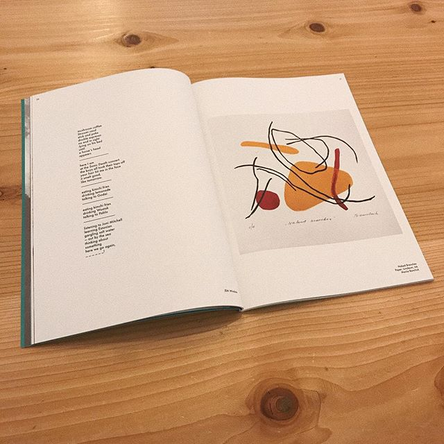 a spread favorite from issue no. 2 〰️ poetry by jda winslow + graphic by @marjabon - - - #calliopemagazine #calliope #printpublication #indiemagazine #independentmagazine #independentpublication #tallinn #estonia #estonianart #poetry #tallinnart #linocut #linoleumprint #printisnotdead