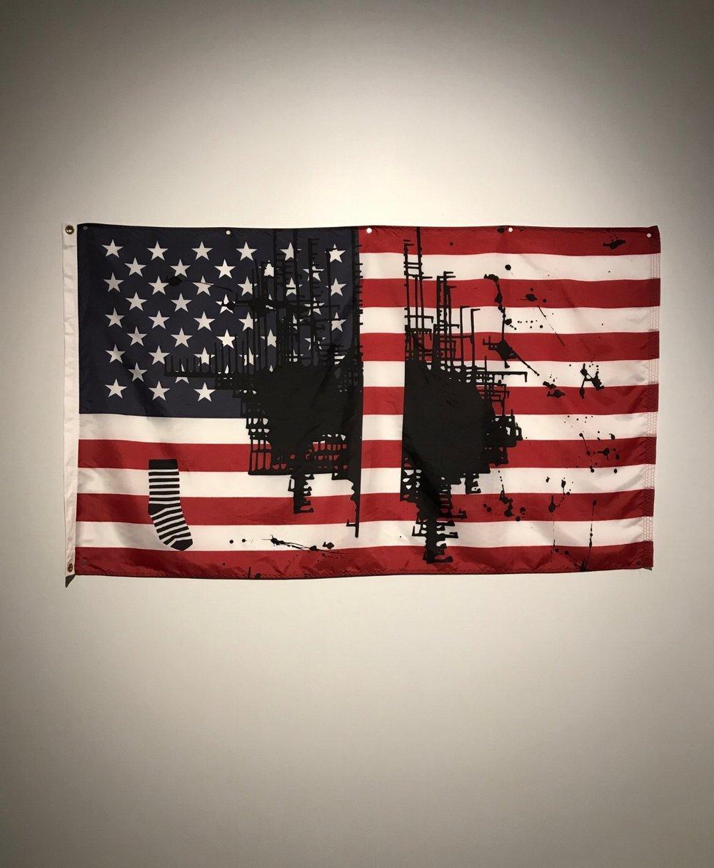 Untitled (Flag 2) | Artist: Josephine Meckseper | The Spencer Museum of Art at the University of Kansas | Photo by: David Tamez (2018)