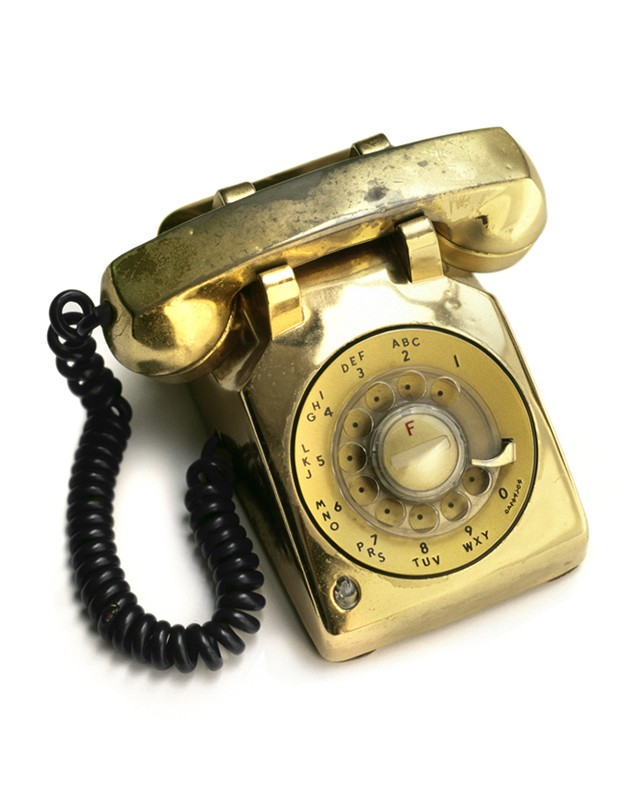 Gold Bedside Telephone Two
