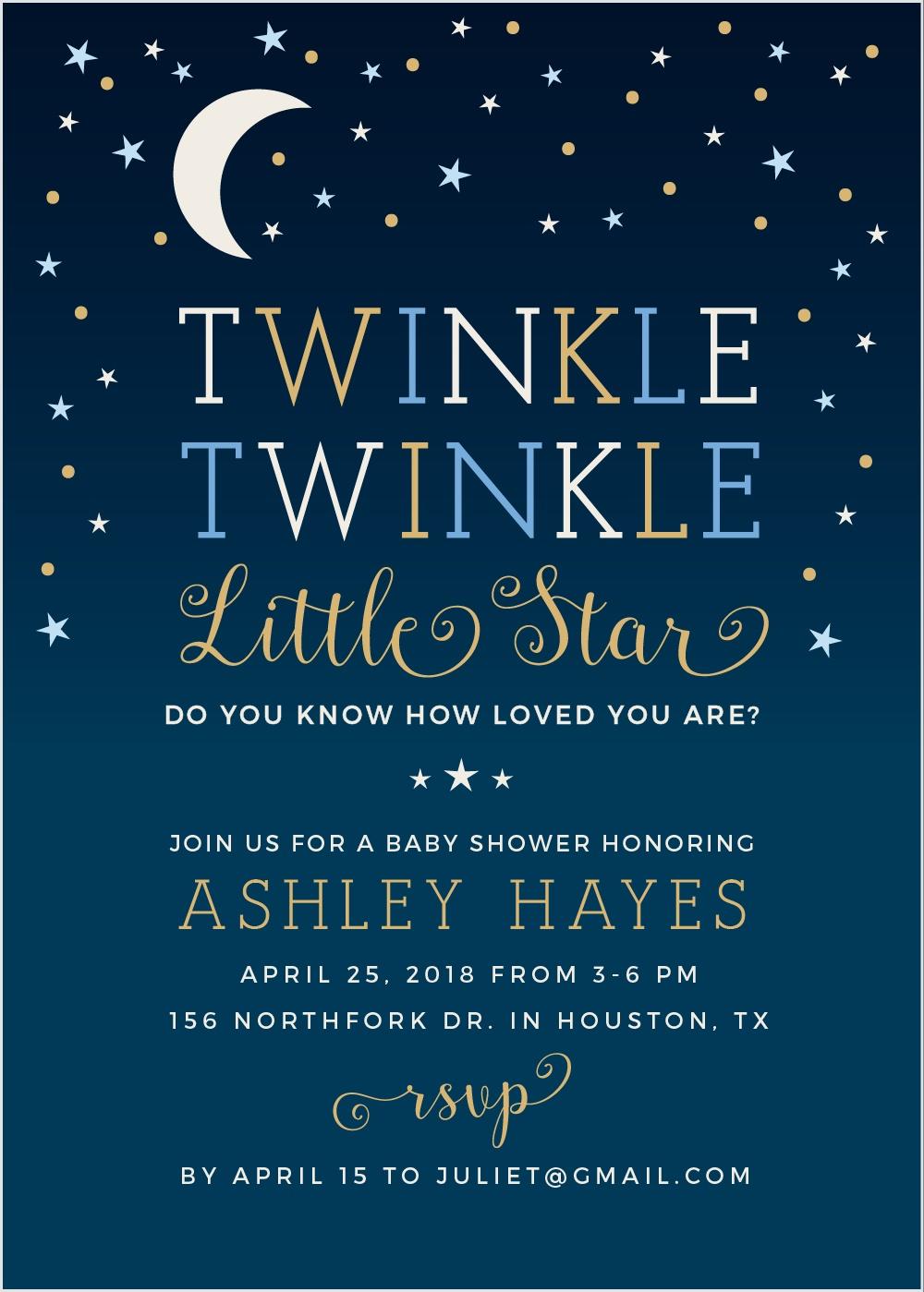 Twinkle twinkle little star inspired baby shower featuring basic twinkle twinkle little star baby shower invitations filmwisefo