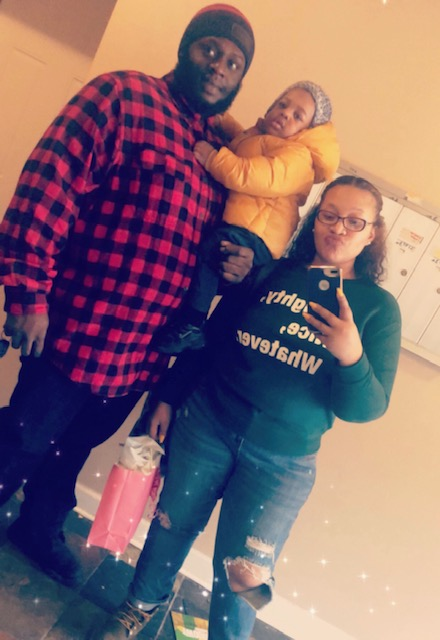 Eboni with her family.