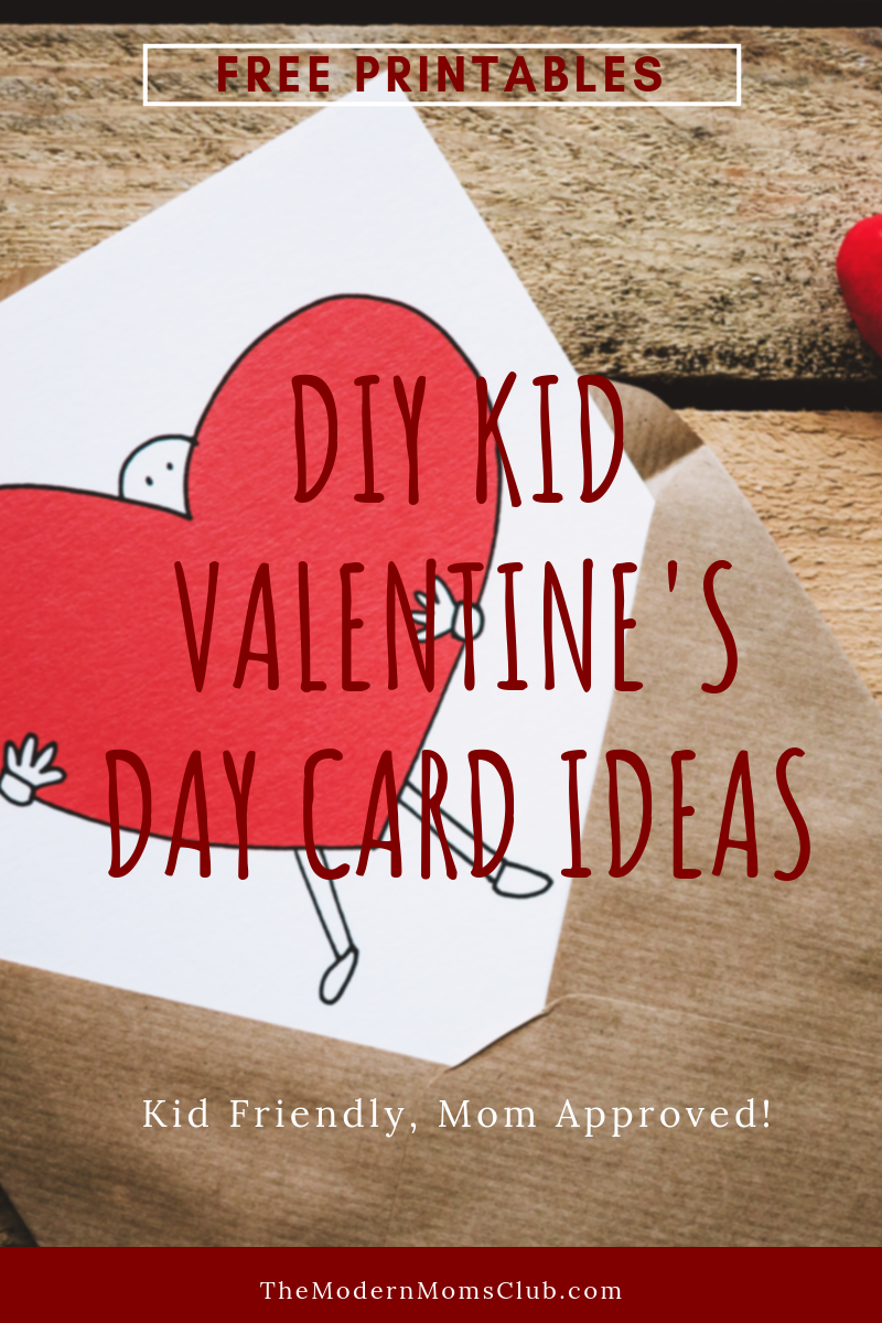 DIY kid friendly Valentine's Day card ideas #freeprintables #valentinesday #diycrafts