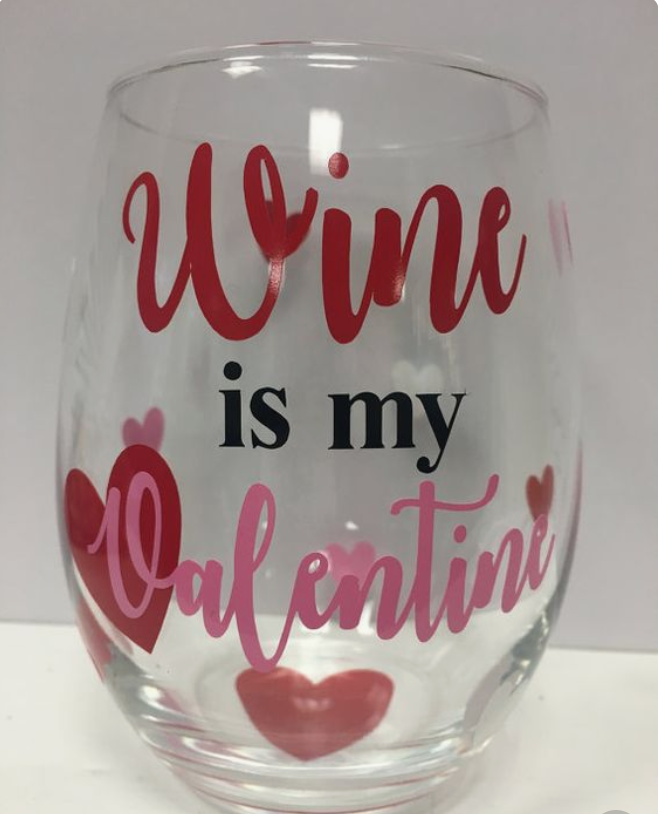 wine glass from  Wooden Spoon Crafts