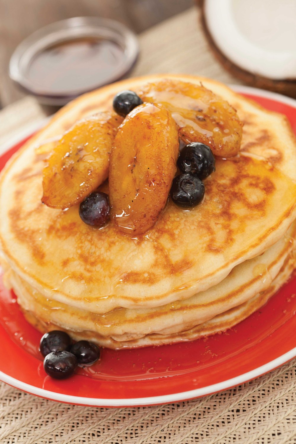 Coconut Pancakes with Fried Plantains, Pineapple Rum Syrup and.jpg