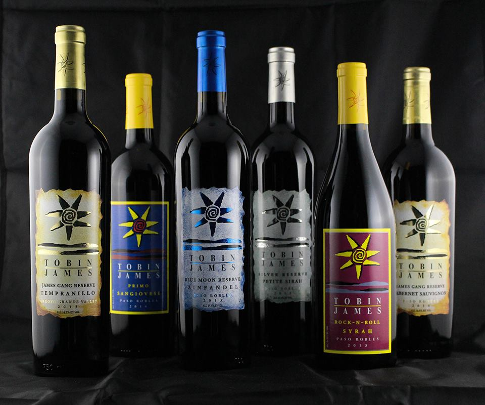 Collection of Tobin James Red Wines