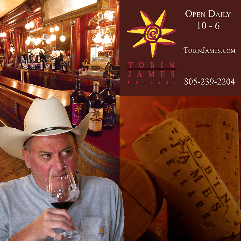 Tobin James Open Daily 10-6 with Toby Drinking Red Wine