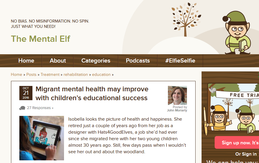 The Mental Elf: Migration and Education