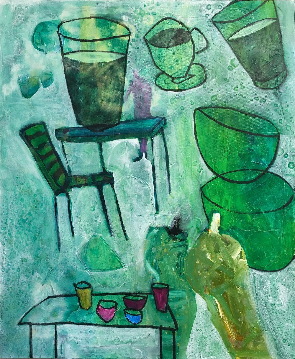 Table Setting in Green