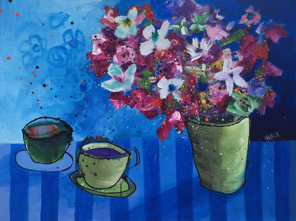 Two Cups with Flowers