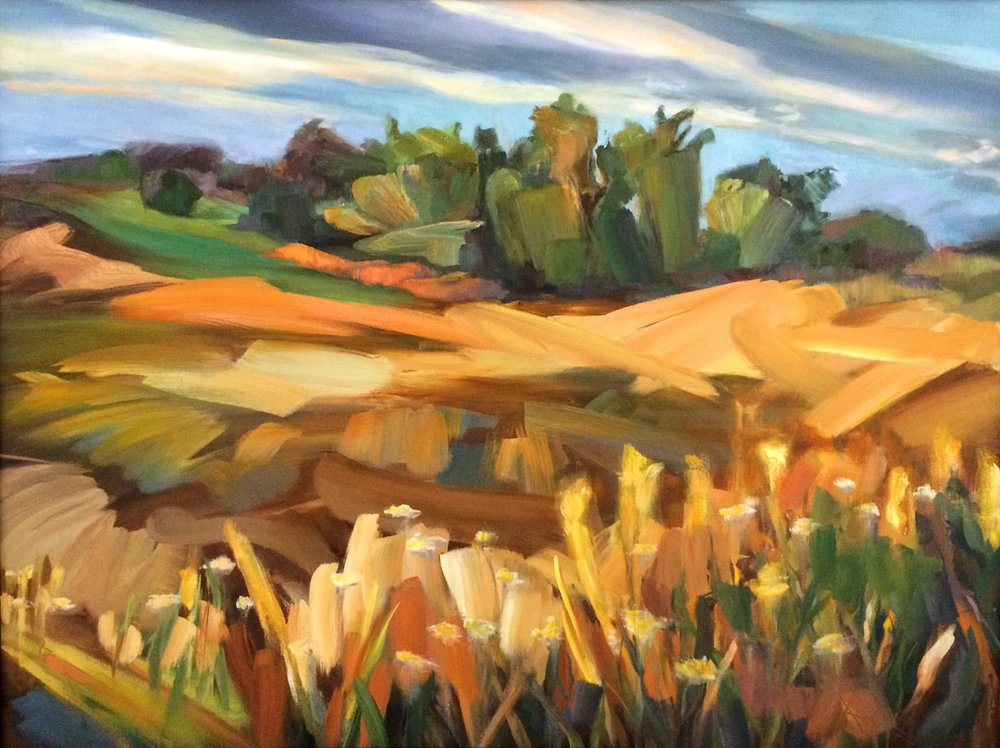 "Restored Prairie, oil on canvas, 30"" X 40"", 2017"