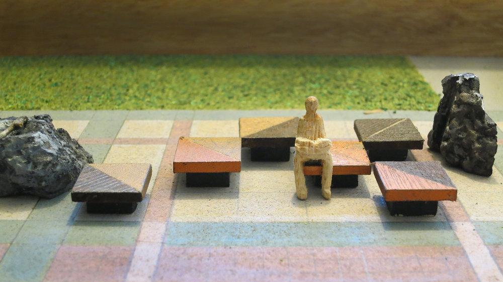 Proposal model by Kinji Akagawa for Enjoyment of Nature, 1992