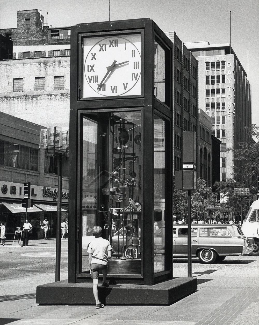 Sculpture Clock installed, 1968
