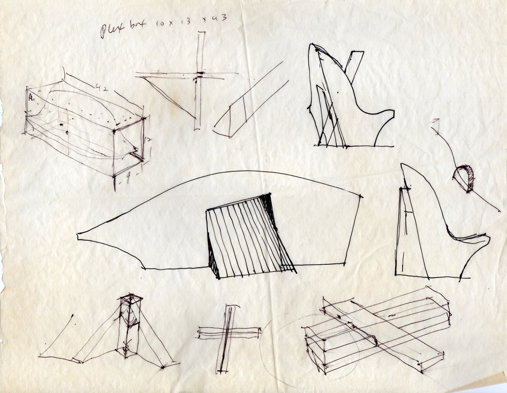 Earliest sketches by Stan Sears for Stone Boats