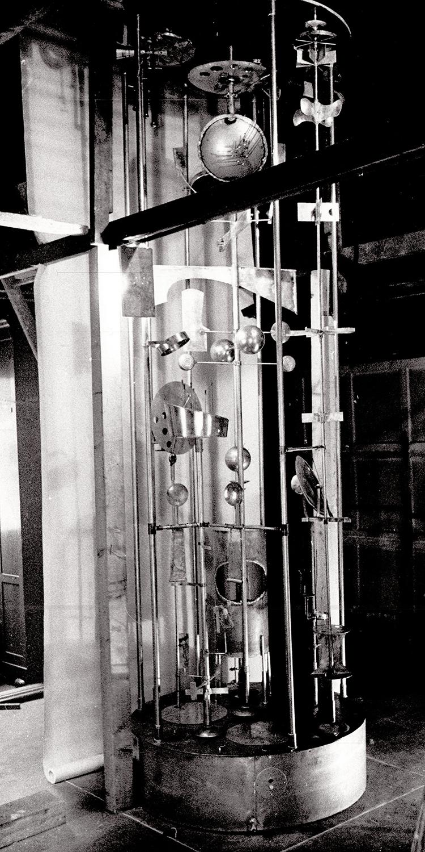 Sculpture Clock in the studio