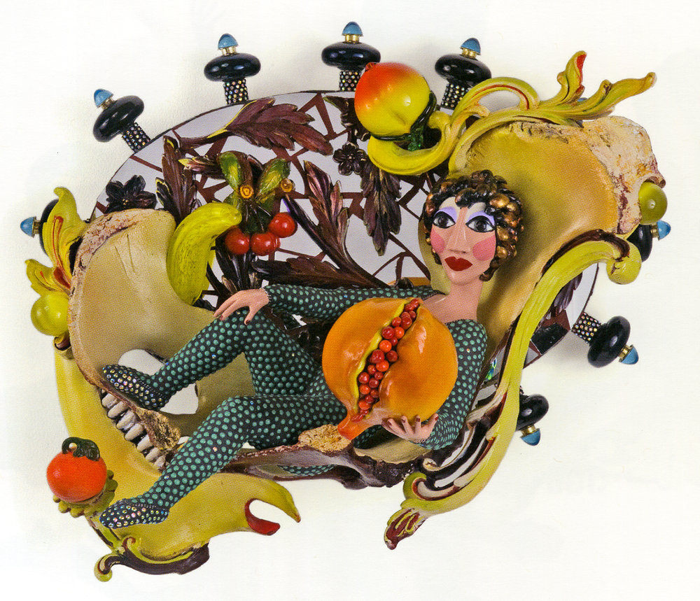That Peach is Pretty Nice, Too,  2008. A transitional work with all of Onofrio's signature elements but introducing bones that hold their own in this tableau.