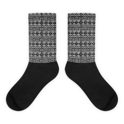 African Mud Cloth Print Socks, Ruva Afric Wear, $14.95