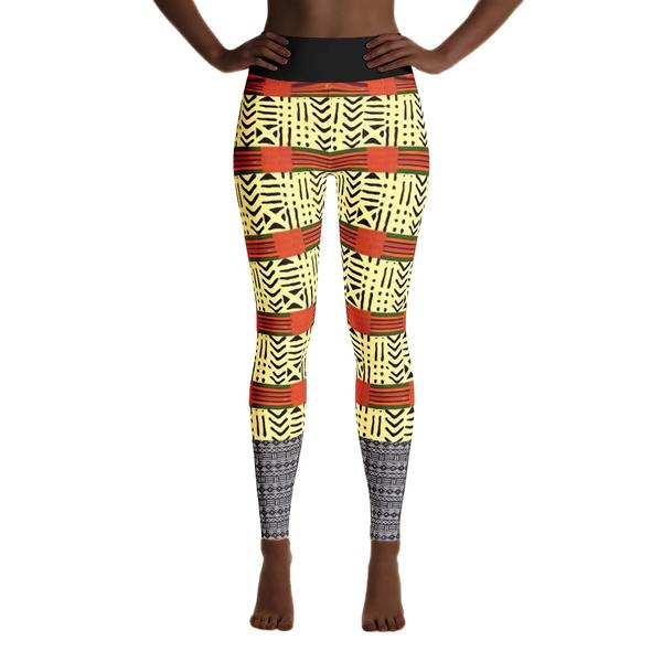 Kente & Mud Cloth Fusion Leggings, $50.95 - Ruva Afric Wear