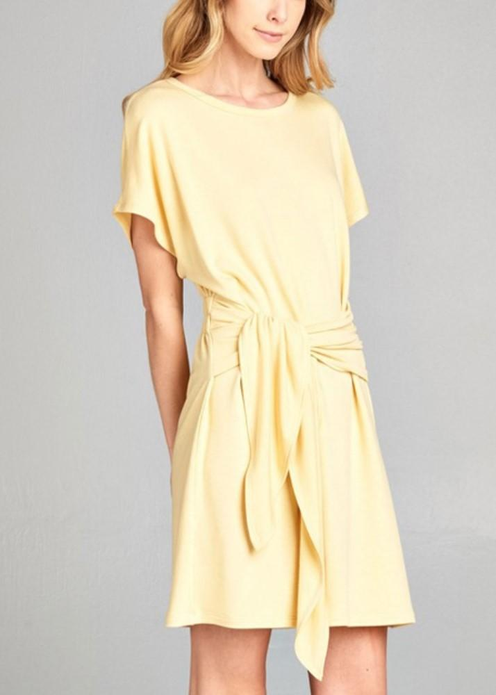 Yellow Wrap Shirt Dress, $33.00 - From Anny