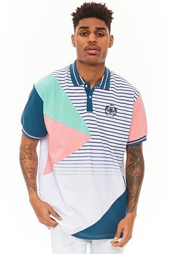 Reason Striped & Colorblocked polo, $48.00 - Forever 21