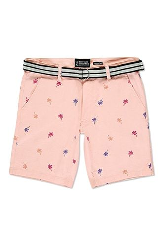 Drill Clothing Belted Palm Tree Shorts, $25.00 - Forever 21