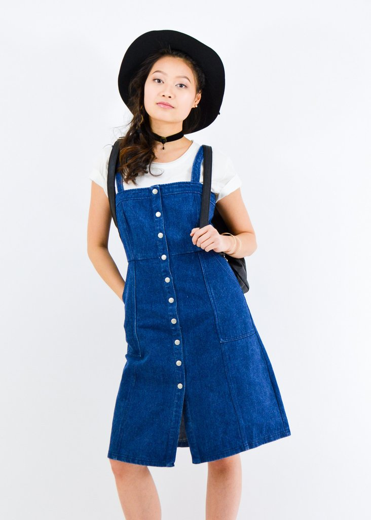 Denim button-front dress, $29.20 - From Anny