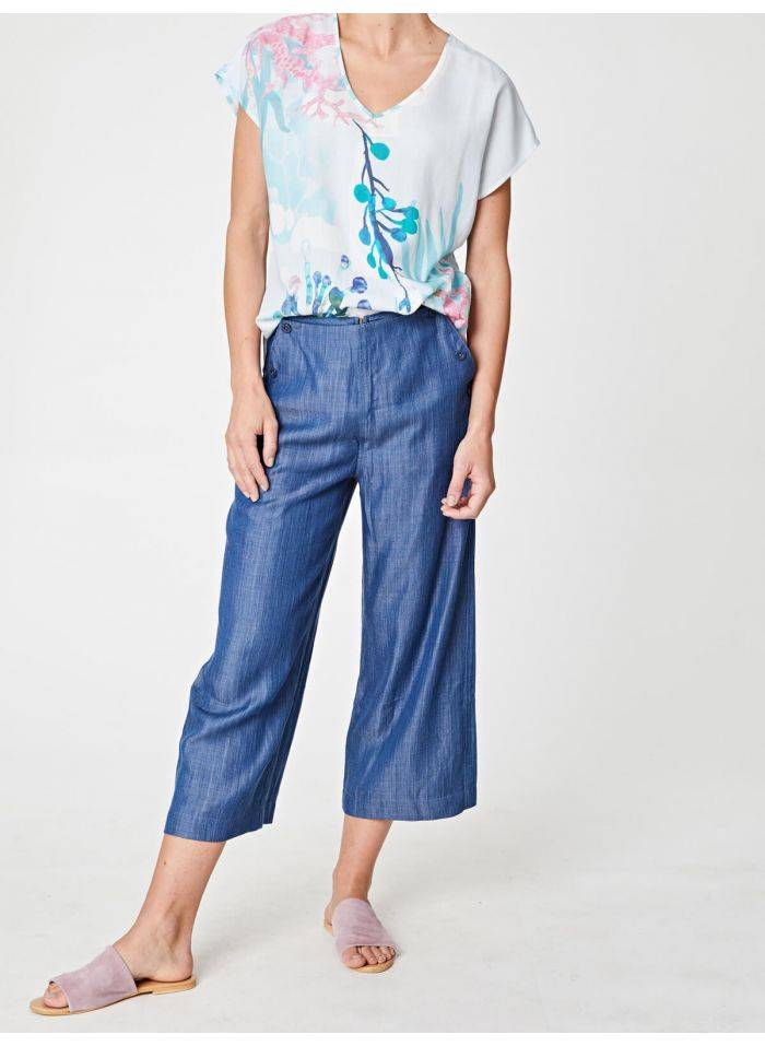 Cropped Culottes -  Spoils of Wear  $65.00