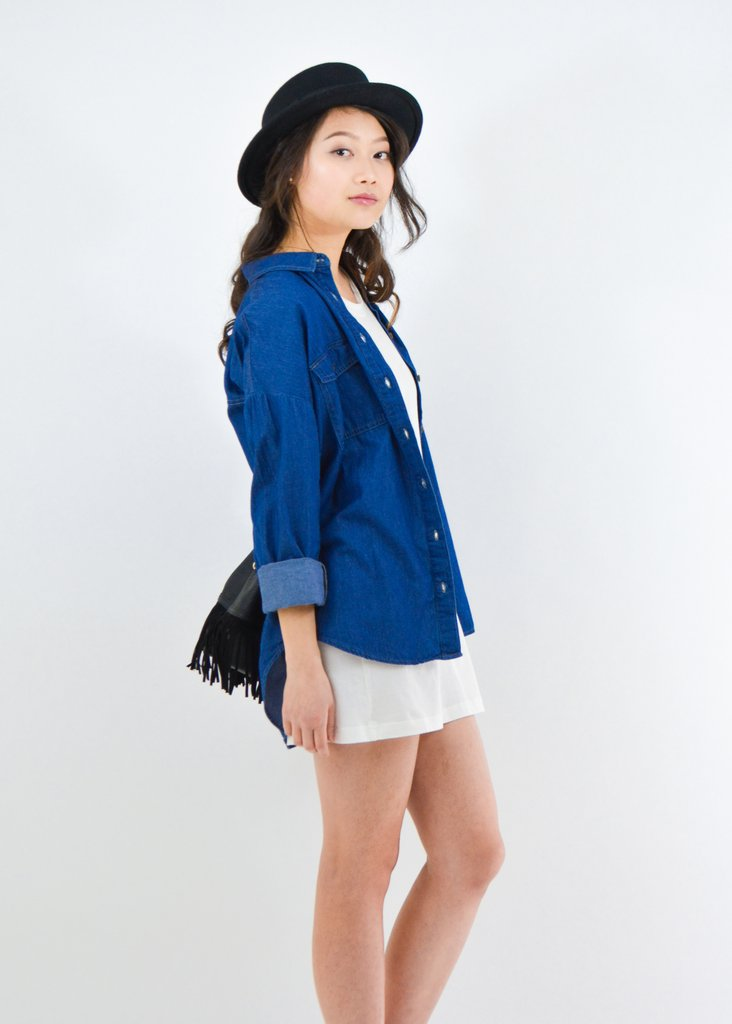 Chambray Shirt -  From Anny  $24.00
