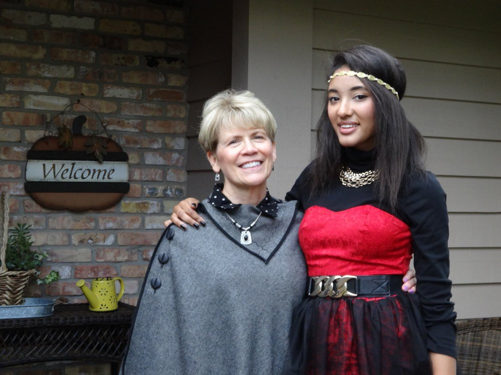 My mom and I going to my first fashion show, the very first FASHIONOPOLIS in MN!