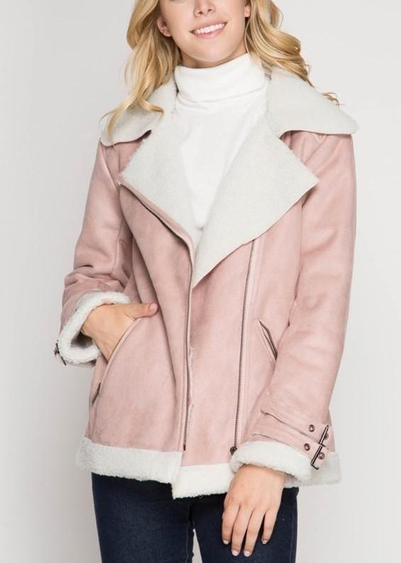 Faux Shearling Jacket,  FROM ANNY  - $59