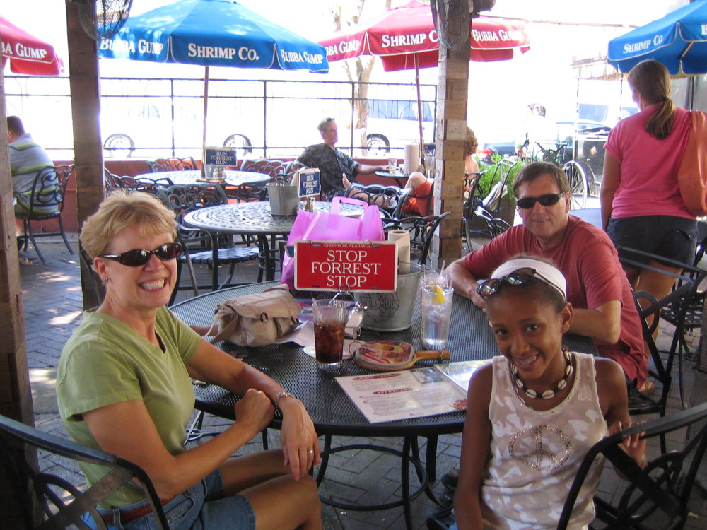 My family and I at Bubba Gumps in Charleston, SC