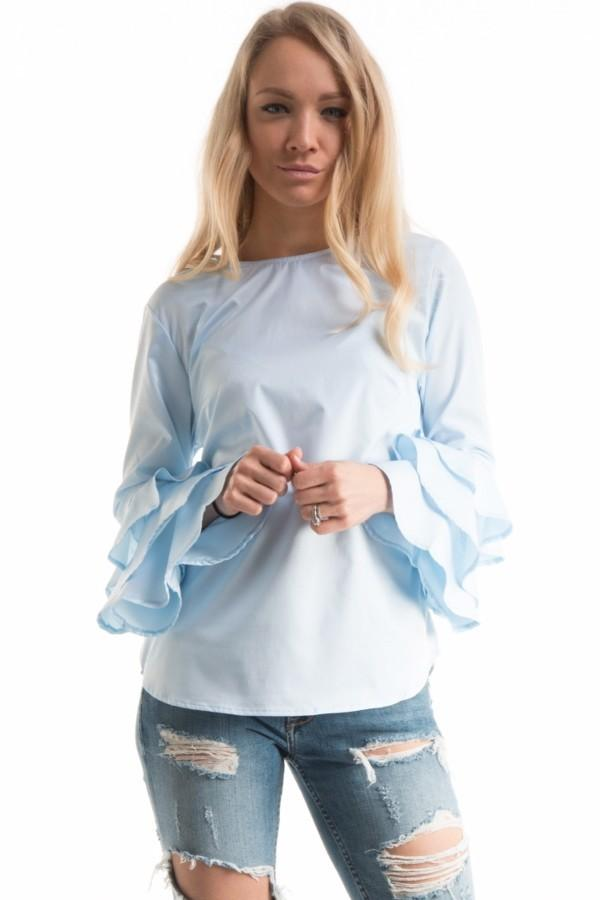 Ruffled Blouse,  From Anny  - $27.50