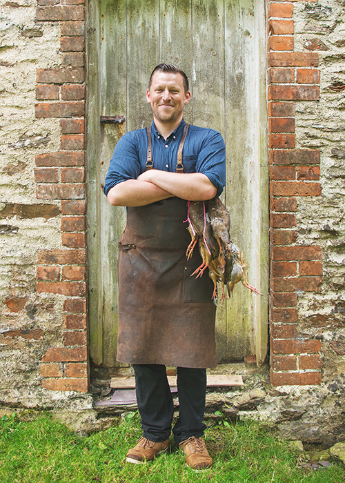 Chef Adam Loyton Kitchen Exmoor Devon