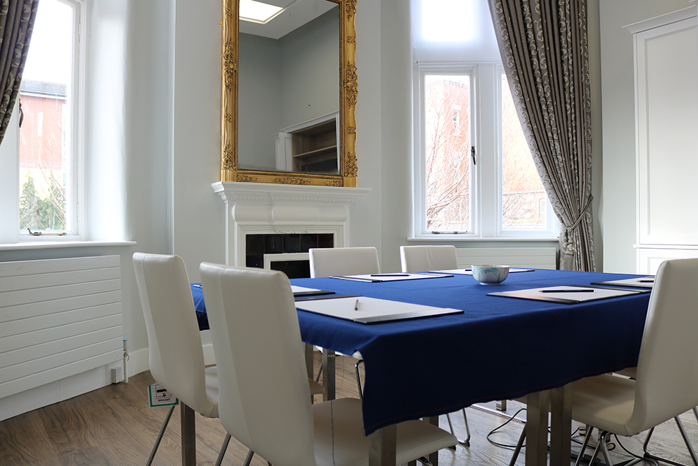 Conference Rooms - Our conference rooms are filled with natural light and can accommodate up to 10 people in boardroom style. They include AV equipment, meaning they are the perfect space for small meetings.