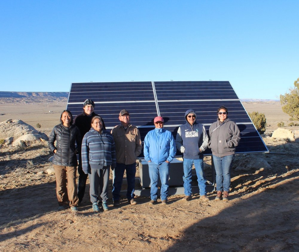 About - Native Renewables formed in 2016 to catalyze clean energy for Native American homes and communities by building partnerships, seeking cost-effective solutions that will reduce fossil fuel use, and supporting local economic development and technical capacity building.