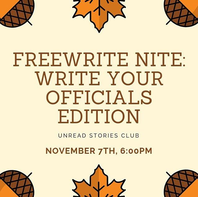 Join us for Freewrite Nite this Wednesday! THIS MONTH'S THEME is inspired by the fact that we'll all have *just* voted on Tuesday (right? You're going to vote, right?). Many of us write our elected officials often (regardless of political views) and we truly believe in the power of the written word to persuade, inform, and shape change. We'll have a short introductory discussion about best practices for writing your elected officials at this month's Freewrite Nite and give you a chance to write your own letter (or letter to the editor, opinion article, etc.) if you'd like. ~~~ And, if you'd rather just chat and write (or decompress after Election Night), that's okay, too. Our schedule and space are the same as other Freewrite Nites. So join us at @coiledwinebar this Wednesday. We can't wait to see you there!