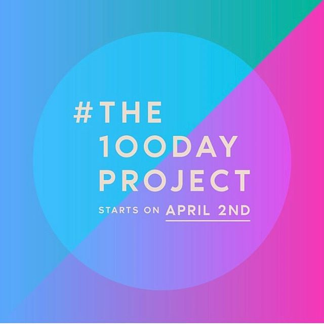 Psst... ready to tackle a creative challenge? Why not join in on #the100dayproject? Head to the100dayproject.org to learn more!