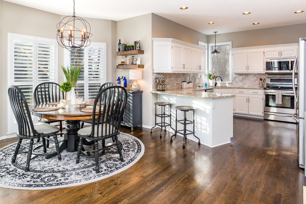 Buyers will generally be sympathetic to the fact someone is still living in a home, but the more clutter that can be put away, the better.