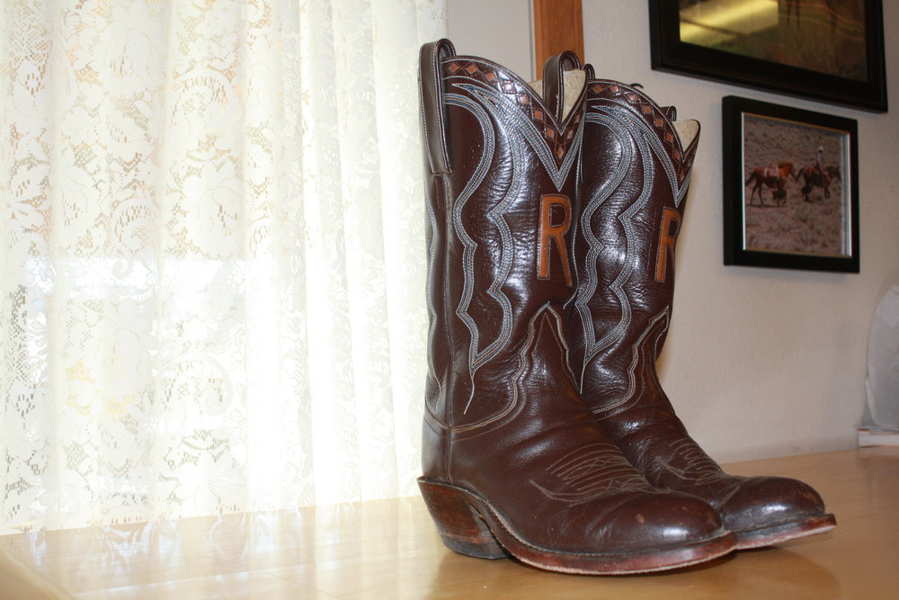 "Cattle rancher Keith Hill's boots are nine years old and without scuffs. He's replaced the soles once, and he says, ""the material is still good enough that it's like new."""