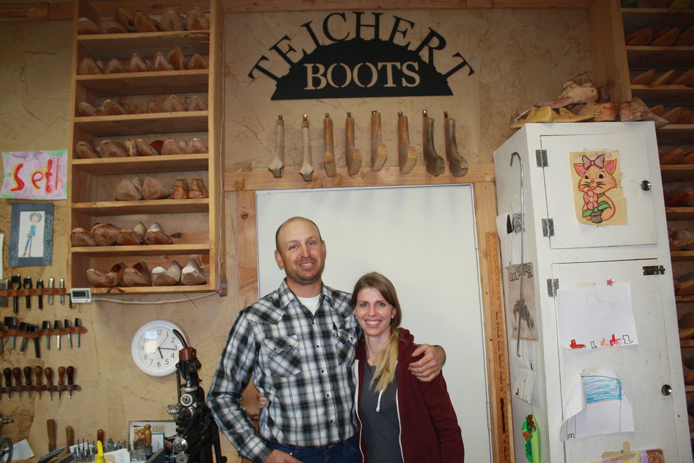 Natalie was awarded an apprenticeship from the Idaho Commission on the Arts' Folk and Traditional Arts Program. With this arts grant, her husband is now teaching her how to be a boot maker.