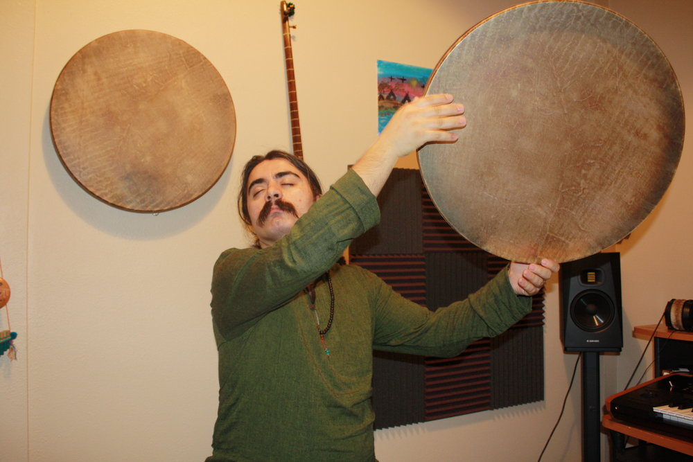 """""""You have to use many muscles in your body,"""" says Jan Porvas about playing the daf. """"You're using your backside muscles also. If you are not ready and you didn't warm up your body you can't continue that technique."""""""